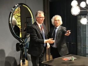 Il governatore Luca Ceriscioli con Vittorio Livi della Fiam Italia