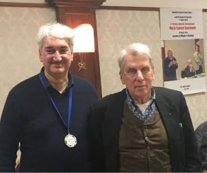 Stefano Sorcinelli e Alessandro Quasimodo al momento della premiazione