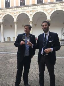 Raffaele Papi e il direttore della Galleria Nazionale delle Marche Peter Aufreiter