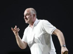 Michele Pertusi non ha perso il buonumore e l'ironia (Foto Amati Bacciardi)