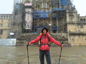 Santiago de Compostela,13 giugno 2016: l'arrivo dopo avere completatoil Cammino Francese