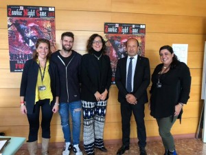Da sinistra: Tania Biondi, Luca Bucchi, Gloria Mei, Amerigo Varotti e Elena Cancellieri nella presentazione presso la sede di Confcommercio