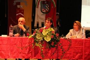 Da sinistra: il Presidente Anmil Pesaro e Urbino Fausto Luzi, il sindaco di Cagli Alberto Alessandri, la direttrice Inail Pesaro e Urbino Antonella Concetta Tata
