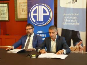 Il presidente A.I.P Roberto Oddo e l'assessore comunale Antonello Delle Noci