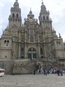 La cattedrale di Santiago de Compostela, meta di tutti i Cammini di Santiago