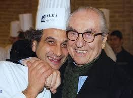 Chef Tiziano Rossetti con Gualtiero Marchesi