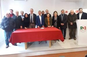 Il comitato provinciale a sostegno di Zingaretti (foto Radio Prima Rete)