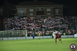 I cinquecento tifosi pesaresi al Mancini in Fano-Vis 0-0 dell'andata