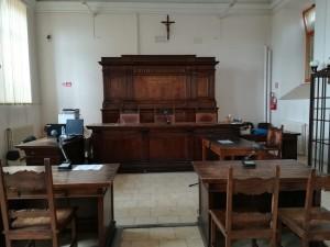 Aula delle udienze penali del Tribunale Urbino