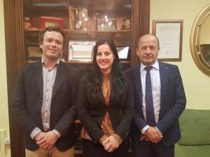 L'ex -presidente dell'Accademia Avv. Leonardo Chiocci, il direttore artistico Nino Lezhava, e il nuovo presidente Amerigo Varotti