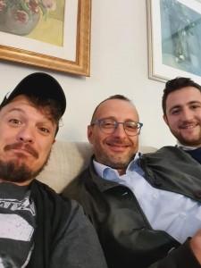 Matteo Ricci con Massimiliano Santini e Marco Perugini