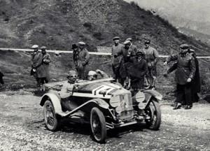 Morandi-Minoia vincitori nel 1927 della prima Mille Miglia con la OM