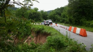 Strada provinciale 150 provvisoriamente chiusa al traffico