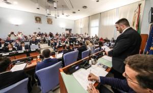 L'intervento del presidente Marco Perugini