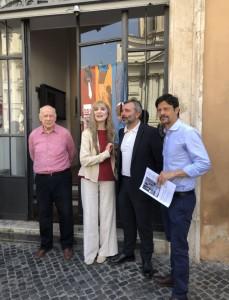 Da sinistra Bruno Torri, Olimpia Carlisi, Pedro Armocida, Andrea Sartoretti