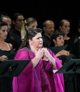 Angela Meade ha conquistato il pubblico del Rossini Opera Festival- per lei il massimo dei decibel (Amati Bacciardi)