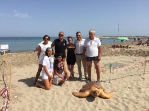 La tartaruga Caretta Caretta ribattezzata Luciana