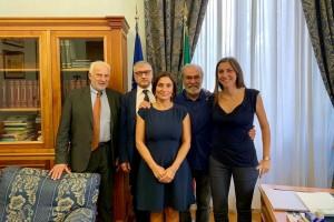 Da destra in foto Ascani Paolini Morani Domenicucci Cancellieri