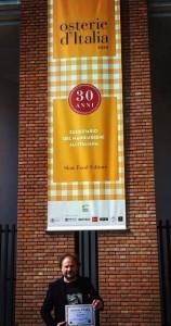 Luca Zanchetti a Milano riceve il premio di Slow Food