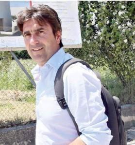 Andrea Biancani durante un sopralluogo in un cantiere