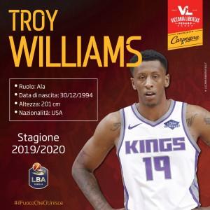 Nuovo arrivo in casa Carpegna Prosciutto Basket Pesaro, Troy Donte Williams è biancorosso