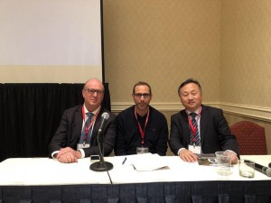 Il direttore di chirurgia Alberto Patriti negli Usa con un chirurgo israeliano ed un cinese