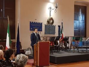 L'intervento del presidente del Consiglio Comunale Marco Perugini