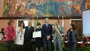 Ricci con Malagò al precedente riconoscimento di Pesaro Città dello Sport