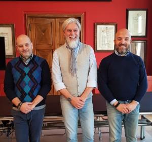 Alessandro Ligurgo (Confesercenti), Davide Ippaso (Confcommercio), Antonio Bianchini (CNA)