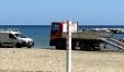 La doccia nella spiaggia libera di Sottomonte
