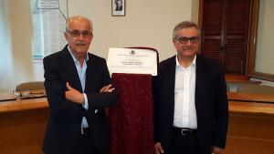 Il vice Presidente Minardi con Fausto Luzi Presidente Anmil Pesaro e Urbino