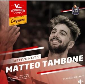 Matteo Tambone (screenshot tratto dalla pagina Facebook della Vuelle)