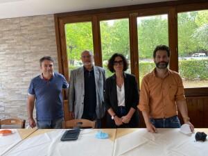 da sinistra Massimo Ciabocchi, Lorenzo Mazzoli, Manuela Carloni e Roberto Rossini