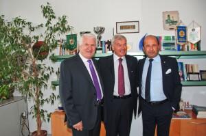 Angelo Serra, Carlo Sangalli e Amerigo Varotti