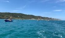 Sommozzatori Sub Tridente e guardia costiera ripulisce i fondali dei mari davanti al San Bartolo