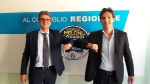 Acquaroli con Francesco Baldelli
