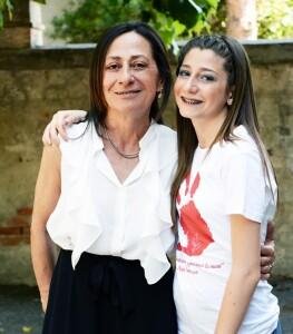 Cinzia Gregorini con Benedetta Vitali (foto tratta dalla pagina Fb di Massimo Seri)