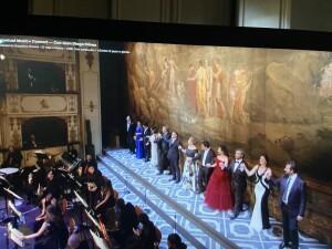 I protagonisti del concerto di ieri sera nel Teatro Rossini e in diretta su medici.tv (foto da  medici.tv)