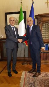 Il Prefetto Vittorio Lapolla con Fausto Luzi