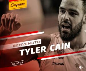 Tyler Cain (screenshot tratto dalla pagina Fb della Victoria Libertas)