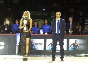 Ricci con la Coppa Italia a Pesaro durante le scorse Final Eight