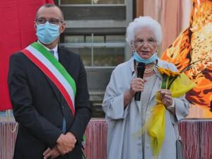 Matteo Ricci con Liliana Segre