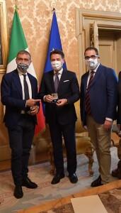 Alfonso Pecoraro Scanio Giuseppe Conte e Gianluca Carrabs