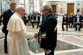 Ricci, Vimini e Perugini in Vaticano da Papa Francesco