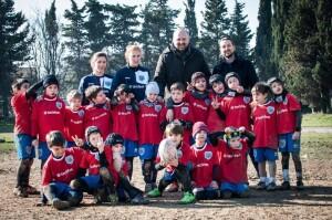 Ferrini con i piccoli del Fano Rugby