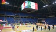 La Vuelle schierata nella Vitrifrigo Arena desolatamente vuota- un'ingiustizia (Foto Victoria Libertas)