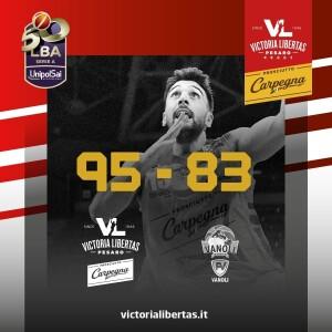 La Vuelle batte Cremona (grafica presa dalla pagina Fb della Vuelle)