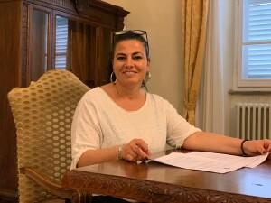 Il sindaco di Pergola Simona Guidarelli