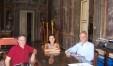 """Nella foto  """"storica"""" : L'allora assessore provinciale alla istruzione Alessia Morani in visita al Conservatorio Rossini con Giorgio Girelli (presidente) e Maurizio Tarsetti (direttore)"""