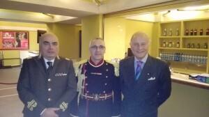 Il Comandante regionale dei VV.FF. Felice Di Pardo , il Direttore della         Banda Donato di Martile ed il presidente emerito del conservatorio Rossini Giorgio Girelli